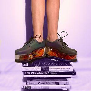 YRU Rainbow Reflective Platform Shoes